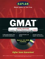 GMAT with CD-ROM: Fifth Edition (Kaplan) 