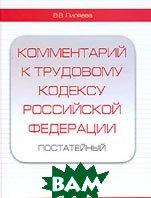Комментарий к трудовому кодексу Российской Федерации постатейный  В. В. Пиляева купить