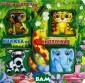 Играем в джунгл ях. Книжка-игру шка Бренда Эпсл ей Книжка на кн опочках - это к нижка с уникаль ными игрушками,  которые ребено к сможет прикре плять к страниц