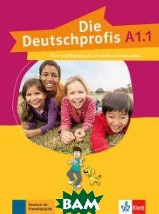 Купить Die Deutschprofis A1.1. Kurs - und& 220;bungsbuch mit Audios und Clips online, KLETT, 978-3-12-676476-6