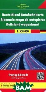 Купить Germany Motorway Map, Freytag &amp, 978-3-7079-0951-7
