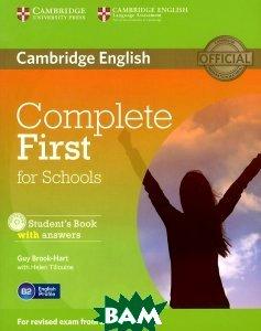 Купить Complete First for Schools Student`s Book with Answers (+ CD-ROM), CAMBRIDGE UNIVERSITY PRESS, Guy Brook-Hart, Helen Tiliouine, 978-1-107-66159-2