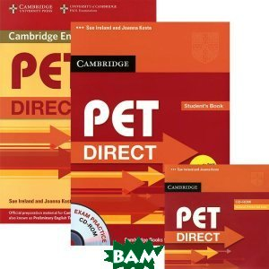 Купить PET Direct Student`s Pack (Student`s Book with CD-ROM and Workbook without answers), Неизвестный, 9780521167222