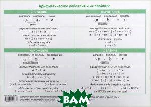 Купить Таблица умножения. Арифметические действия и их свойства, ПОПУРРИ, 978-985-15-3264-9